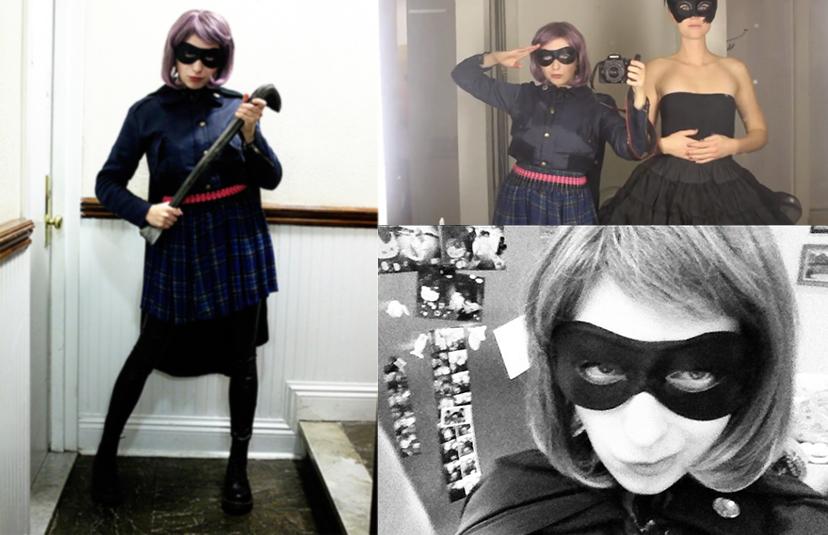 Halloween 2011 lördag (man får absolut inte återanvända sin outfit två  gånger enligt amerikansk halloween-kotym) var jag Hit-Girl i Kick Ass. 5d275d0b07711